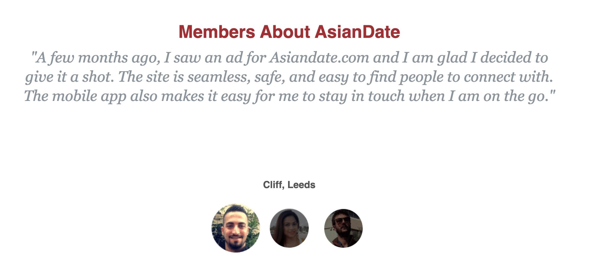 AsianDate testimonial