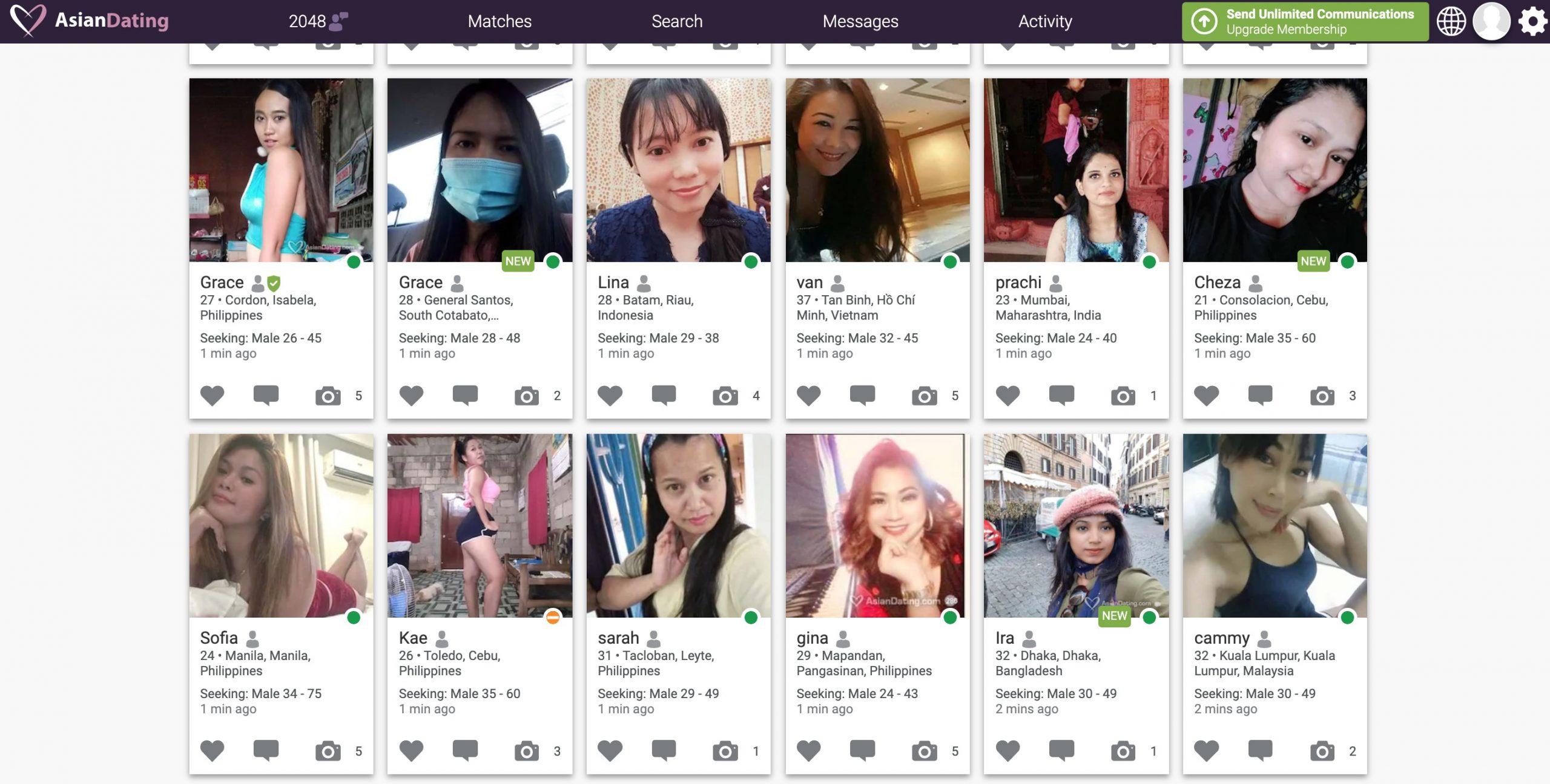 AsianDating women profiles
